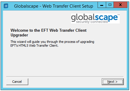 Upgrading the Web Transfer Client (HTML5 version)