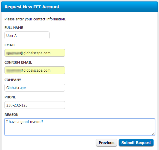 user access request form template - requesting an account